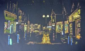 004 John St Porthcawl at Night